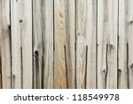 Close up on an old and run-down wooden fence. - stock photo