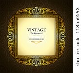 vintage picture wall frame wall ... | Shutterstock .eps vector #118550593