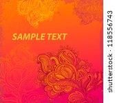 hand drawn floral vintage... | Shutterstock .eps vector #118556743