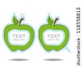 green apple speech bubble and... | Shutterstock .eps vector #118558813