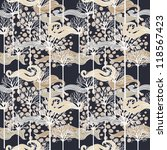 vector seamless pattern with... | Shutterstock .eps vector #118567423