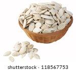 salted pumpkin seeds | Shutterstock . vector #118567753