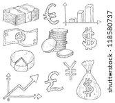 Finance Doodle Vector Set