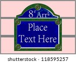 Traditional Paris Plaque With...
