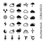 weather icons set   vector | Shutterstock .eps vector #118614013
