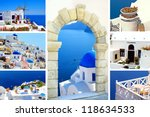 collage of summer photos in... | Shutterstock . vector #118634533