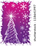 sparkling christmas tree with... | Shutterstock .eps vector #118641997
