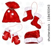 vector set of christmas symbols | Shutterstock .eps vector #118650343