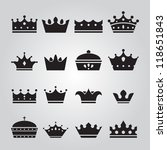 set of crowns icons | Shutterstock . vector #118651843