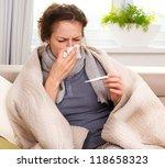 sick woman.flu.woman caught... | Shutterstock . vector #118658323