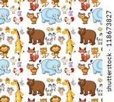 illustration of various animals ... | Shutterstock . vector #118673827