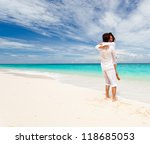 Loving Couple On Tropical Beach