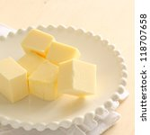 butter cube for home bakery - stock photo