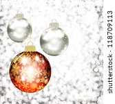 background with christmas balls.... | Shutterstock .eps vector #118709113