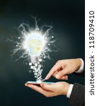 abstract idea spark big idea concept - stock photo