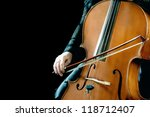 cello orchestra musical... | Shutterstock . vector #118712407