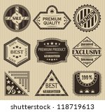 vector set of retro labels | Shutterstock .eps vector #118719613