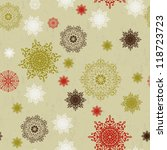 seamless christmas background... | Shutterstock .eps vector #118723723