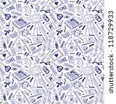 art hobby   seamless background | Shutterstock .eps vector #118729933