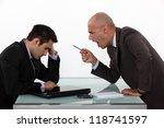 boss shouting at employee   Shutterstock . vector #118741597