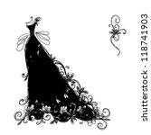 sketch of ornamental black...   Shutterstock .eps vector #118741903