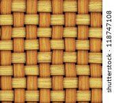 seamless texture of wood weaving - stock photo