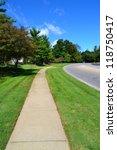 municipal sidewalk follows... | Shutterstock . vector #118750417