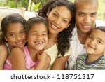 all smiles from a happy fimily... | Shutterstock . vector #118751317