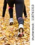 Sportswoman Ready To Run With...