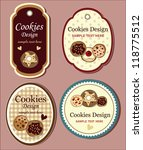 cookies label - stock vector