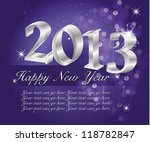 happy new year 2013 | Shutterstock .eps vector #118782847