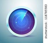 glossy radar icon   Shutterstock .eps vector #118785583