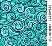 Wave Grunge Turquoise Seamless...