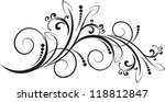floral pattern with decorative... | Shutterstock .eps vector #118812847