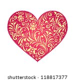 vector illustration of  floral  ...   Shutterstock .eps vector #118817377