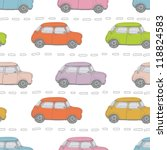 retro cars background | Shutterstock .eps vector #118824583