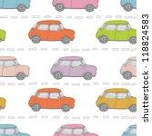 retro cars background | Shutterstock .eps vector #118824583