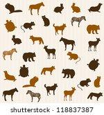 animal seamless pattern | Shutterstock .eps vector #118837387