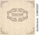 vintage background with damask... | Shutterstock .eps vector #118842007