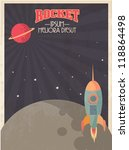 vintage rocket template vector/illustration - stock vector