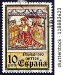 spain   circa 1980  a stamp... | Shutterstock . vector #118883623