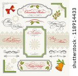 christmas collection of design... | Shutterstock .eps vector #118914433