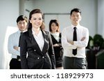 chinese business woman standing ...   Shutterstock . vector #118929973