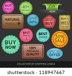 collection of colored shopping... | Shutterstock .eps vector #118947667