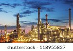 oil and gas industry   refinery ... | Shutterstock . vector #118955827