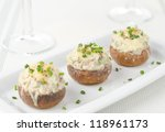 Stuffed Mushrooms  Baked With...