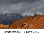 Dramatic Sky And Landscape Of...
