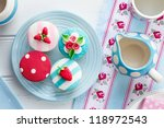 tea party with summer themed... | Shutterstock . vector #118972543