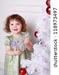 pretty little girl  near the... | Shutterstock . vector #118973497