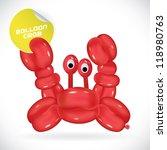 glossy balloon crab...   Shutterstock .eps vector #118980763